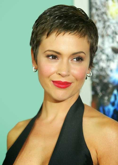 Layered Super Short Pixie Cuts