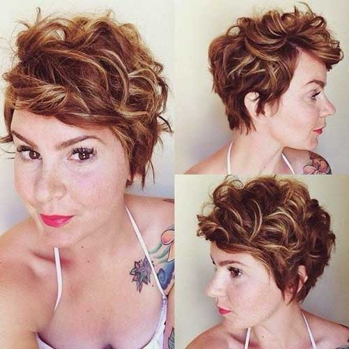 Long Curly Pixie Cuts Women
