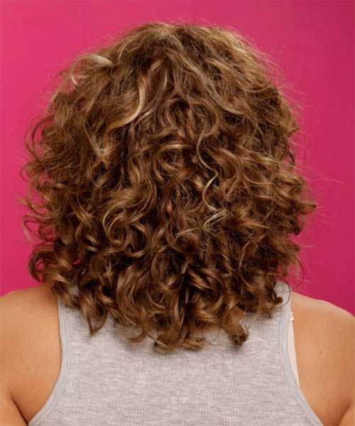 Medium to Short Curly Haircuts Idea