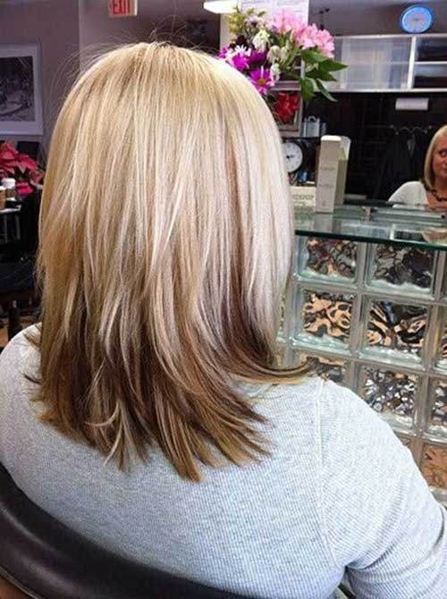Medium to Short Reverse Bob Haircuts