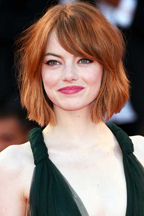 Medium to Short Soft Wavy Bob Haircuts