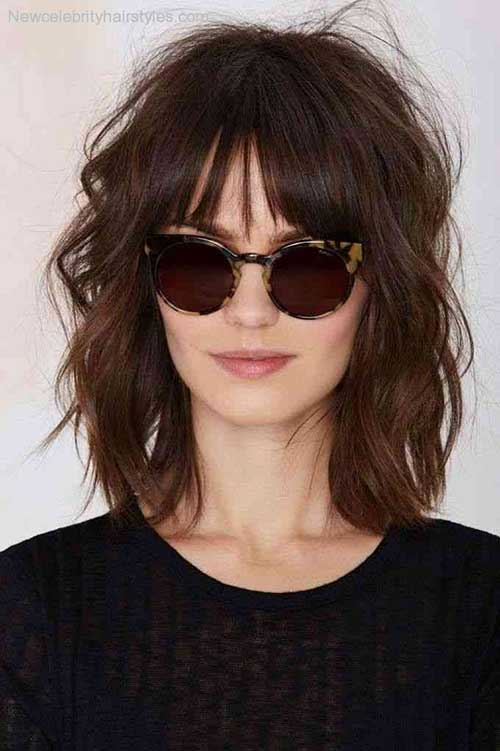 Messy Bob Hairstyles Ideas with Bangs