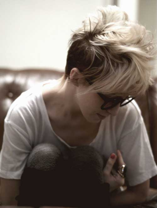 Messy Mohawk Pixie Hairstyles