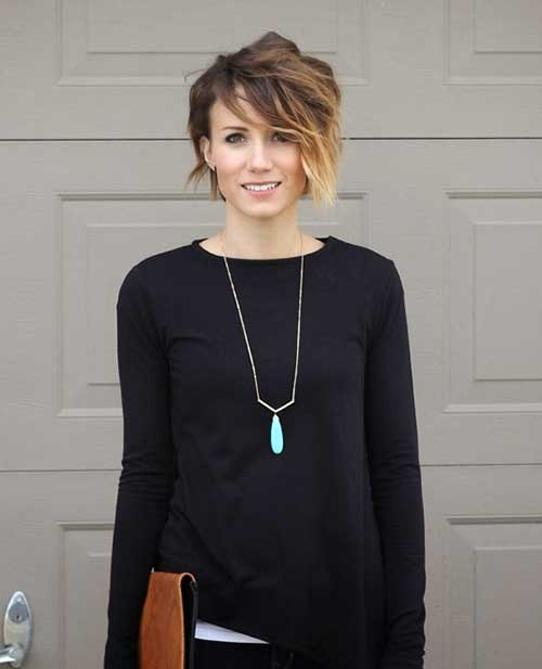 Ombre Long Pixie Cut Ideas for Women