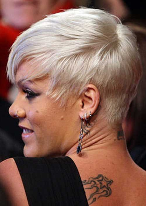 Platinum Blonde Pixie Cut Image