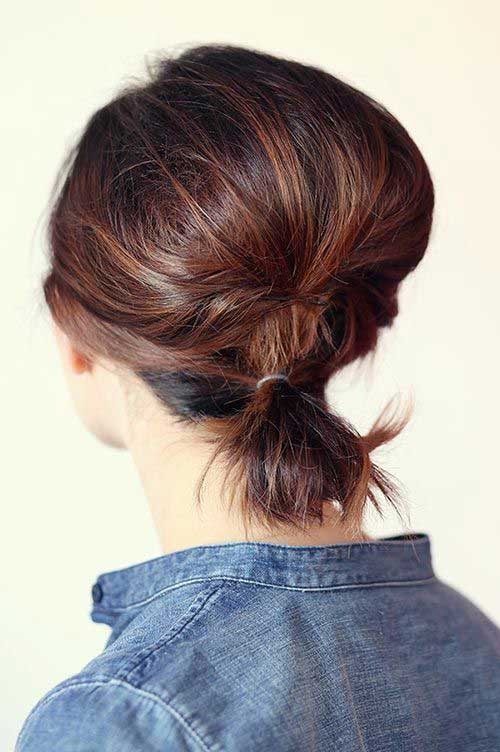 Ponytail for a Short Hair Cut