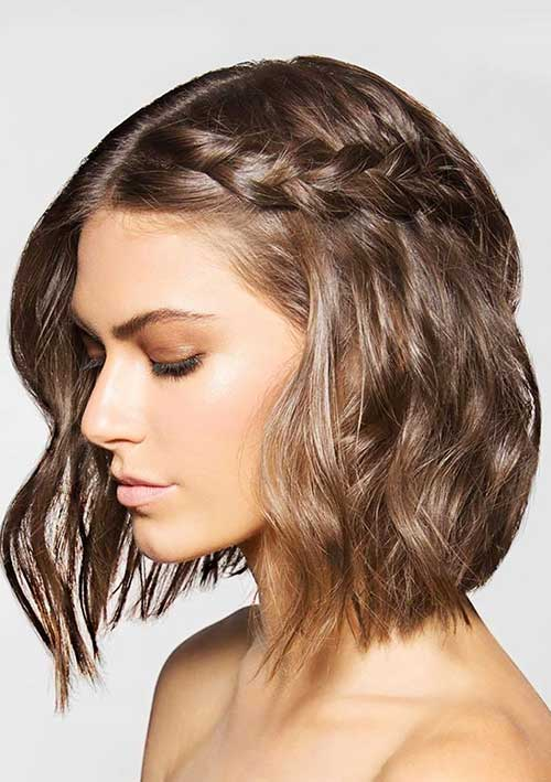 Pretty Braided Short Haircuts