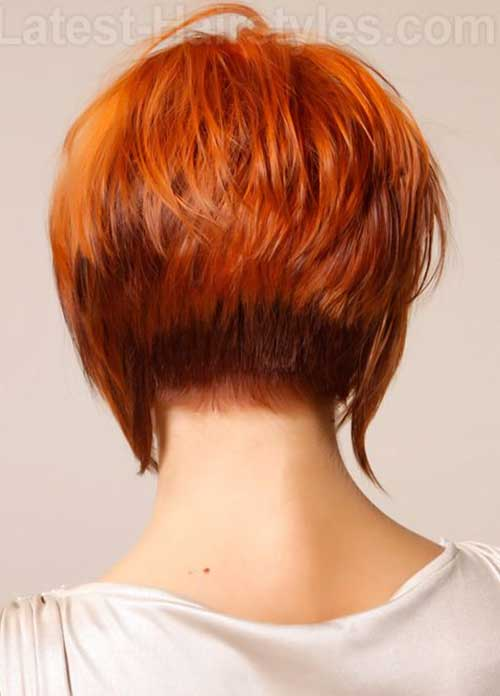 Red Long Pixie Cuts Back View
