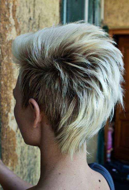 Short Blonde Hair Back View 2015