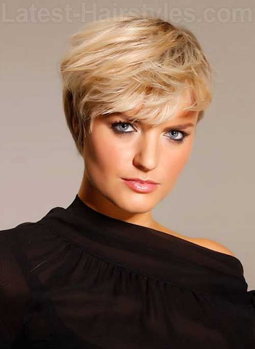 Short Blonde Pixie Cut Image