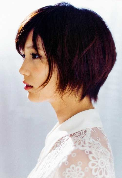 Short Layered Bob Asian