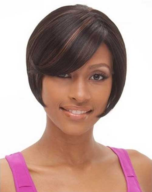 Short Bob Cuts for Cute Black Girl