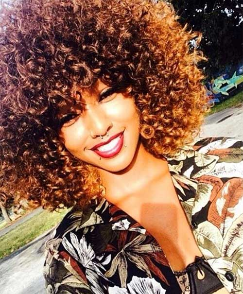Cute Short Curly Afro Hairstyles