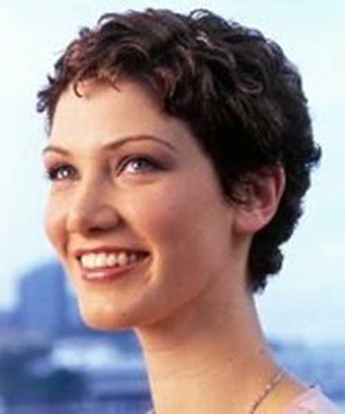 Short Curly Boyish Hair for Women