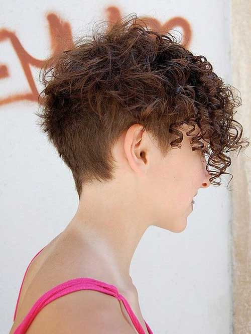 Short Curly Asymmetrical Haircuts 2014
