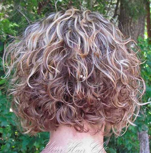 Short Curly Haircuts Back View