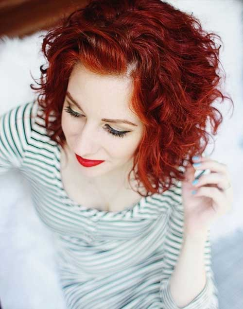 Short Curly Red Hairstyles for Women
