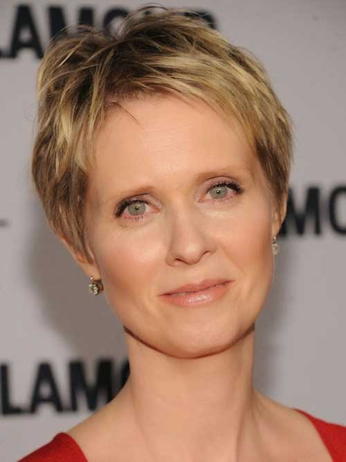 Short Fine Layered Pixie Haircuts