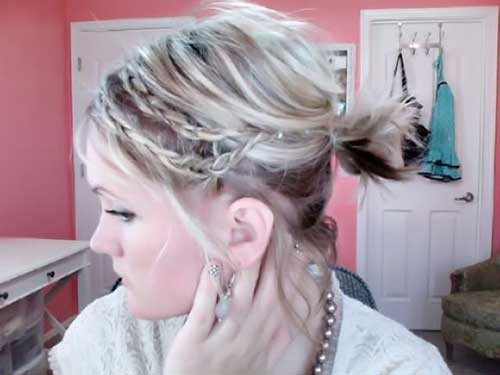 Short Hair Braided Ponytail Ideas