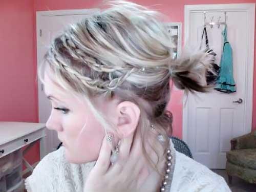 Short Hair Braided Ponytail Ideas
