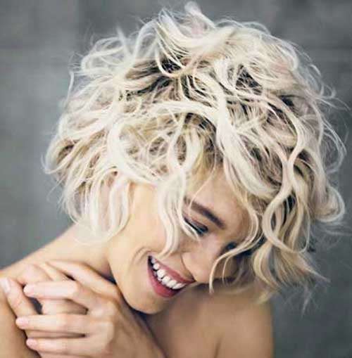 Short Blonde Hair Curls