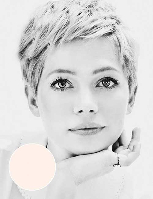 Short Pixie Hair Styles for Round Faces