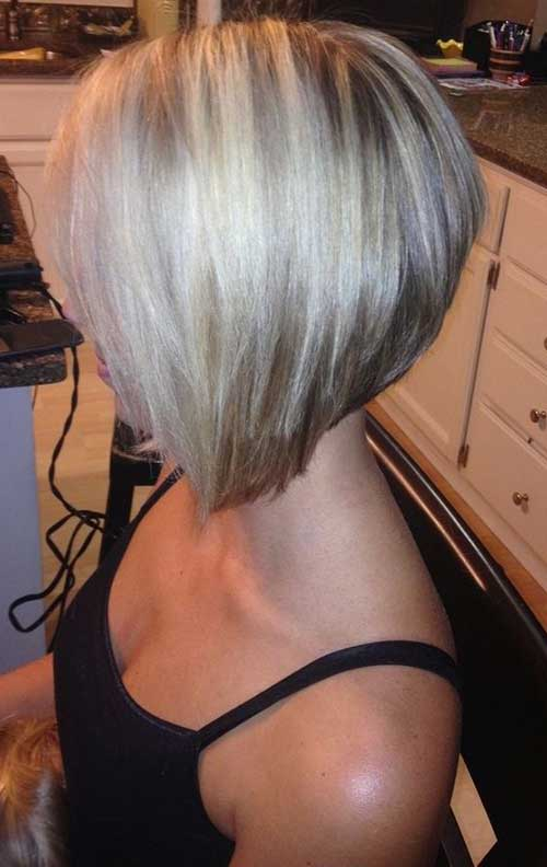 Short Blonde Haircut 2014
