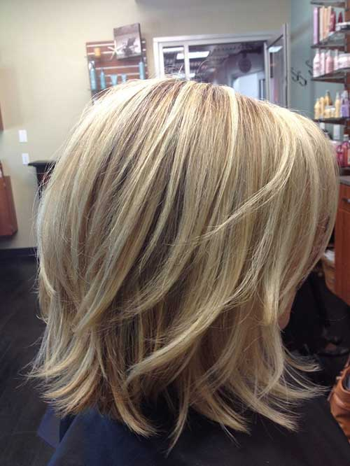 Short Medium Haircut Layers
