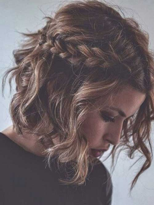 Short Haircuts for Curly Wavy Braided Hair