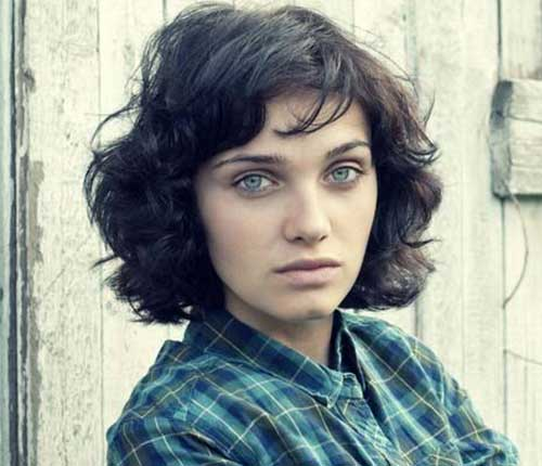Short Hairstyles Thick Hair with Bangs
