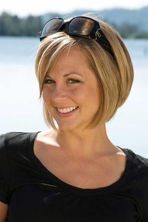 Short Inverted Bob Haircuts for Round Faces