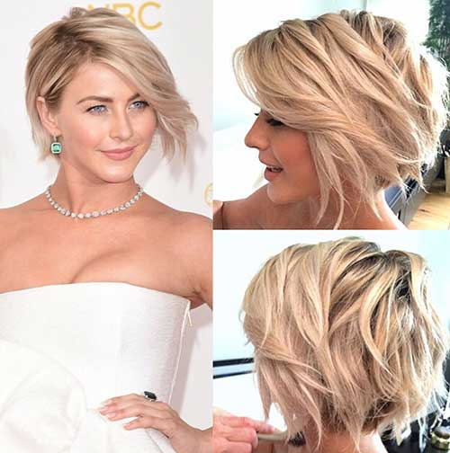 Short Layered Blonde Wavy Hairstyles
