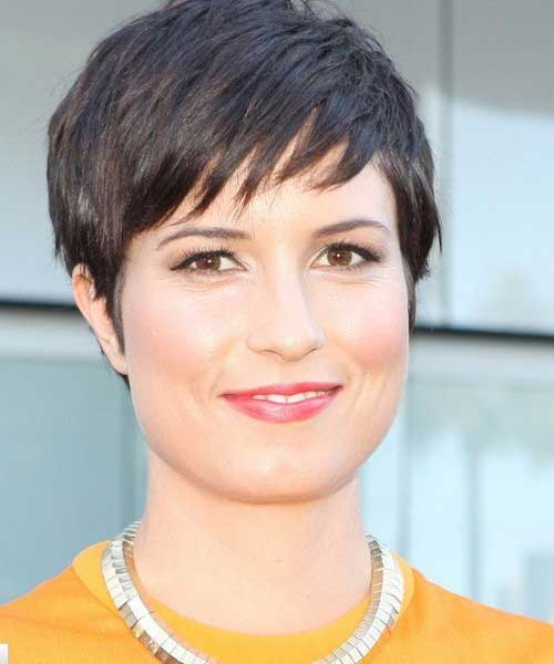 Short Layered Dark Pixie Haircuts 2015