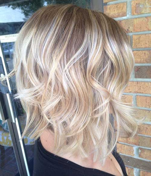 Short Layered Wavy Ombre Hair Styles