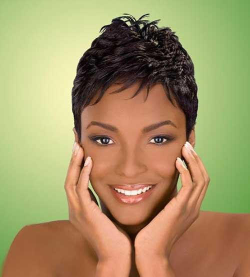 Short Pixie Haircuts for Black Women 2015