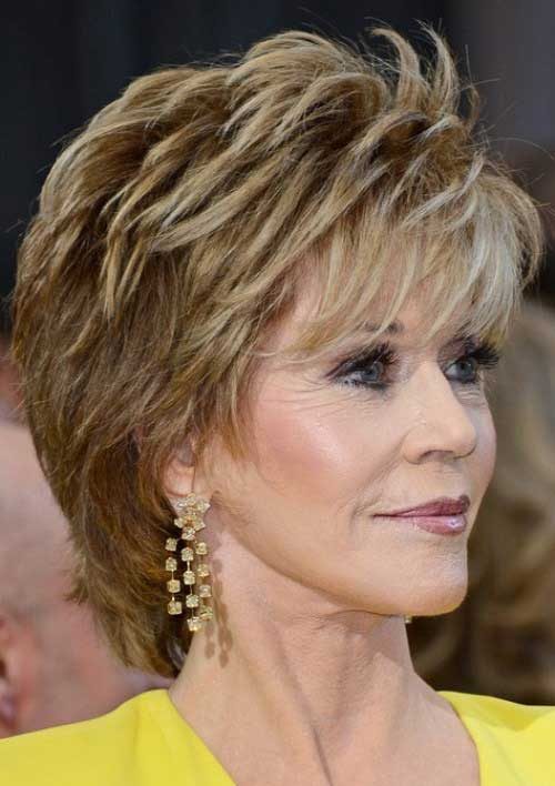 Short Pixie Haircuts for Older Women 2015