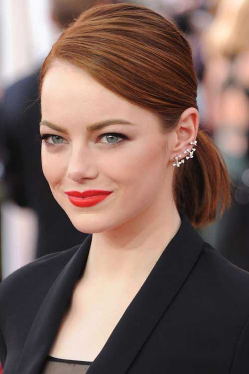 Short Red Hair Ponytail Ideas