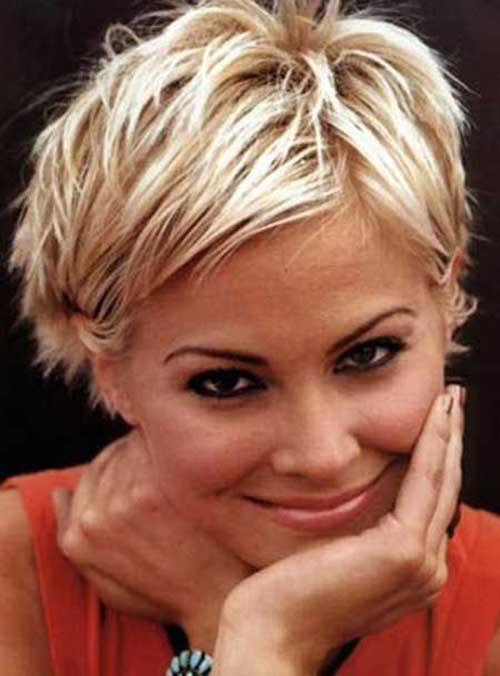Short Sassy Blonde Layered Hairstyles 2015