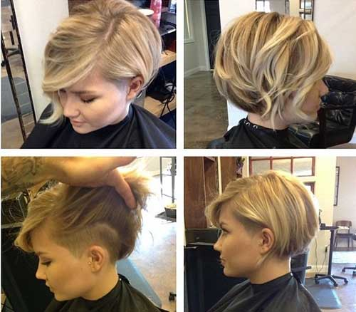 Short Side Blonde Haircuts