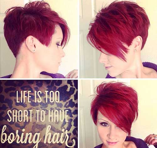 Short Side Red Hairstyles