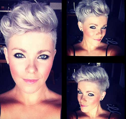 Short Side Stylish Pixie Cut