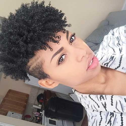 Short Sides Curly Afro Hairstyles