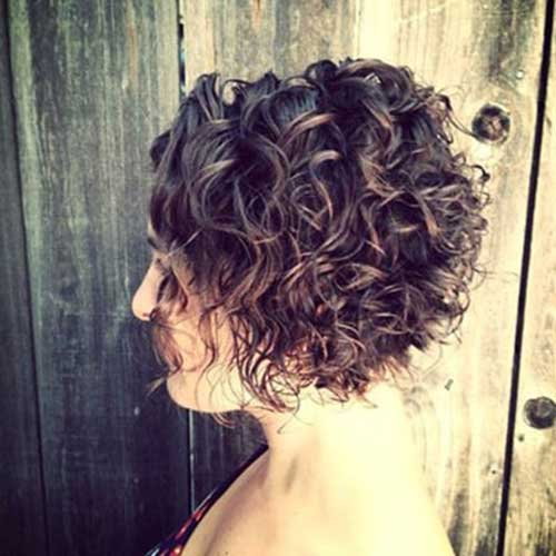 Short Simple Curly Hairstyle Ideas