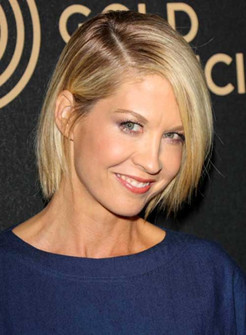 Short Straight Fine Blonde Bob Hairstyles