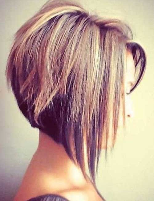 Short Straight Fine Inverted Bob Hairstyles