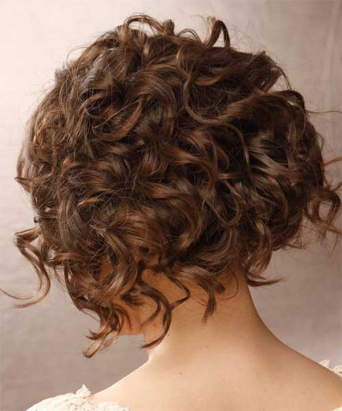 Short Very Curly Hairstyles Back 2015