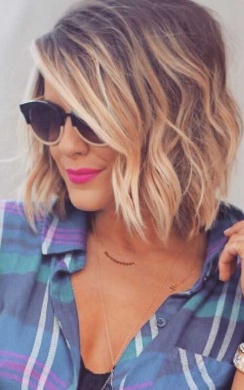 Short Wavy Balyaged Hairstyles