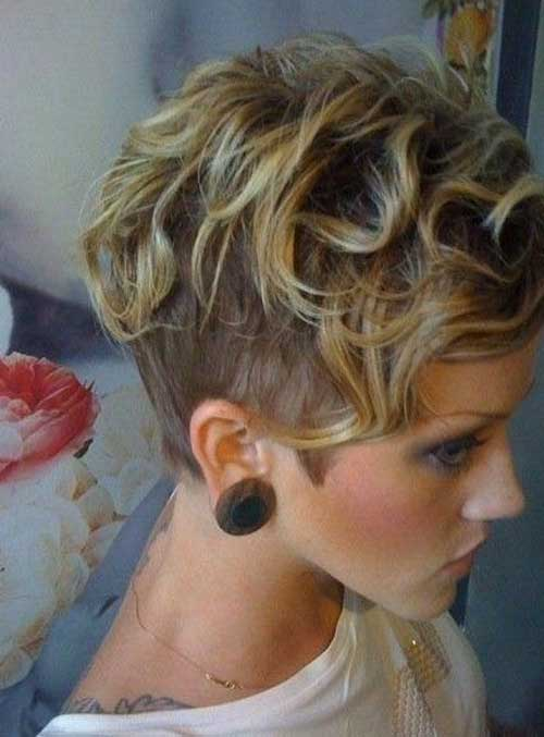 Short Wavy Curly Blonde Hairstyles