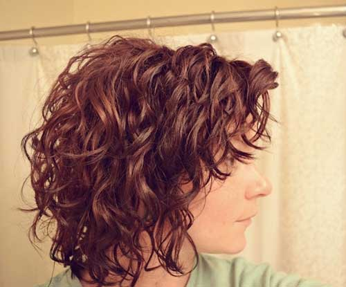 Short Wavy Curly Casual Bob Hairstyles