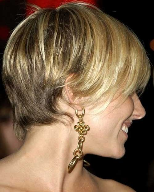 Straight Pixie Cut Back View Images